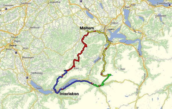 Map Route Tour5
